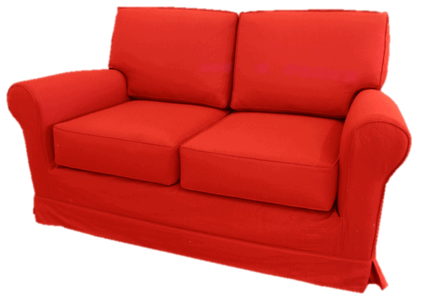 when moving seniors, you need to let them bring a few favorite pieces of furniture like my mother's red loveseat