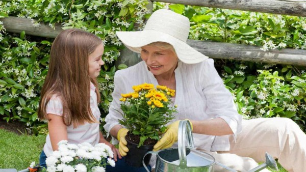aging in place allows seniors to live near friends & family, and continue enjoying their favorite hobbies like gardening