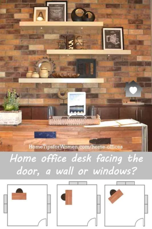 home office design should start with the correct placement of your desk - click to learn about your best choices
