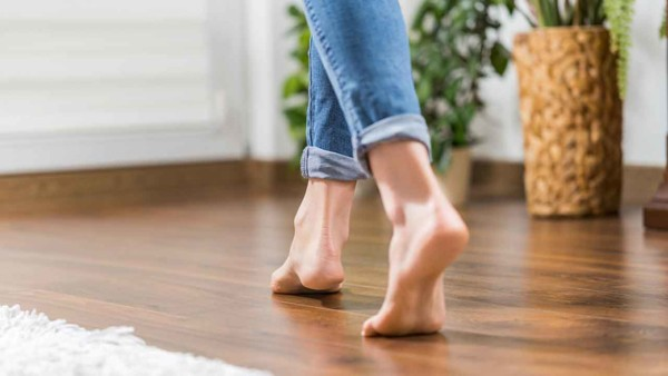 radiant floor heating means your feet won't freeze as you walk barefoot during colder seasons