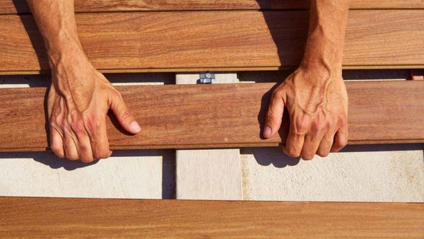 ipe wood is a popular hardwood used for decking because it's rot resistant