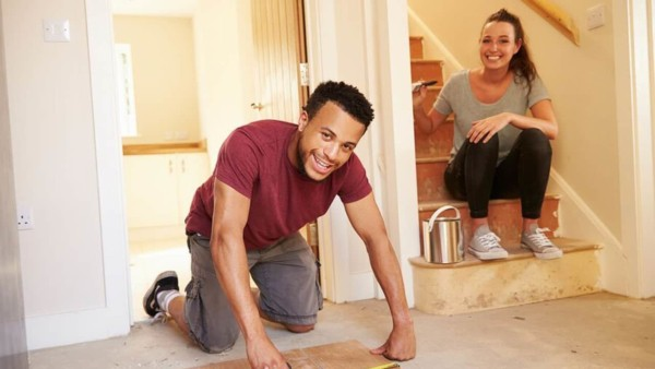 homeowners prepping to paint