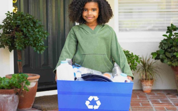 try not to buy things you don't need & when you're done using them, make sure to recycle what you can't sell or give away