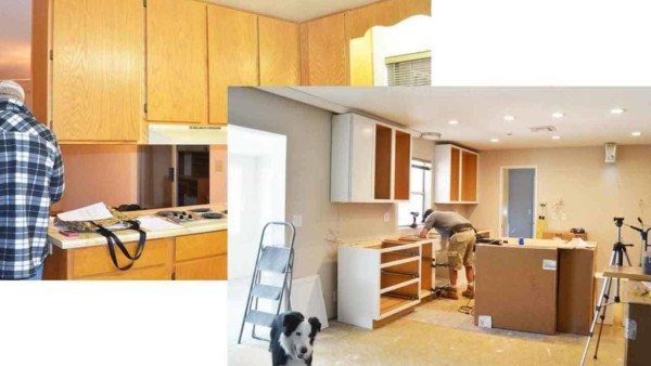 kitchen renovations in process, one of the most popular remodeling projects