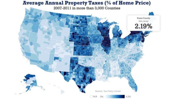 another way of looking at property taxes - a percentage of your home's value