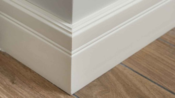 baseboard trim is one of the most interior finishes, and because it gets lots of wear & tear, it needs a semi-gloss paint finish that's hard