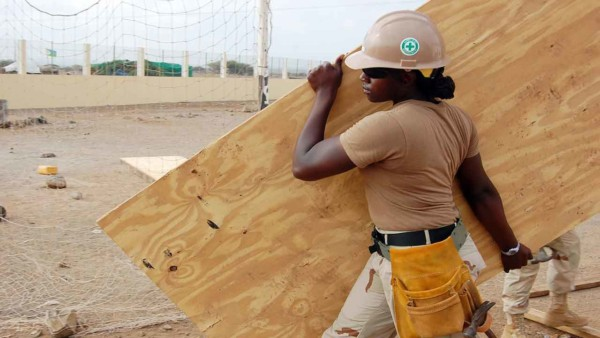 plywood, and now super plywood also known as cross laminated timber, is used in many construction projects
