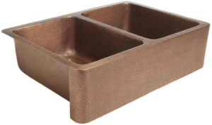 a special copper sink might be the perfect special touch for some budget kitchen renovations