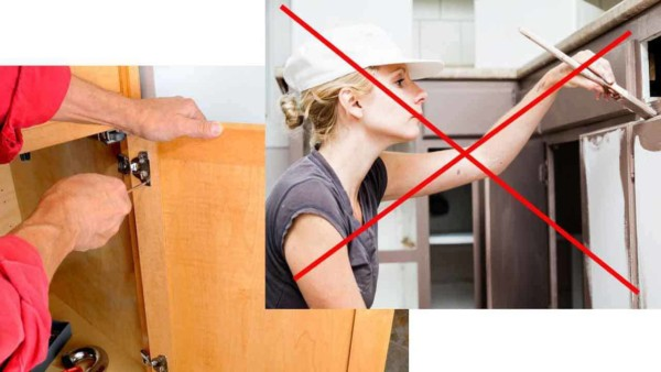 budget kitchen renovations go further if you invest time to get the results you want, like painting kitchen cabinets