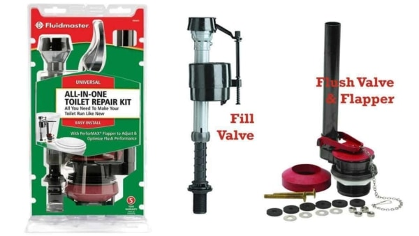 you'll want to buy a complete toilet repair kit to avoid an extra trip to the store as you learn how to repair a toilet