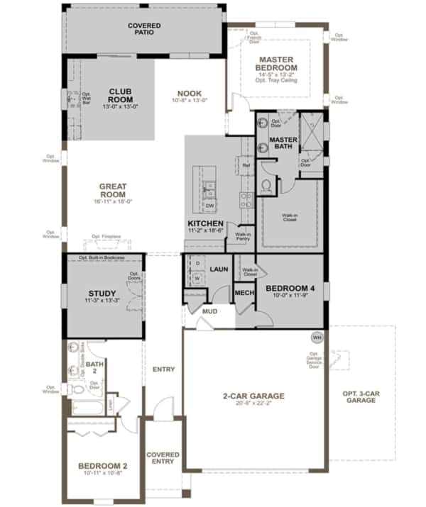 floor plan for house being built in Florida