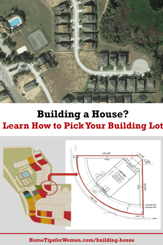 different ways you'll see building lots documented