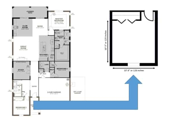 house floor plan with blow up to research beds for small bedrooms