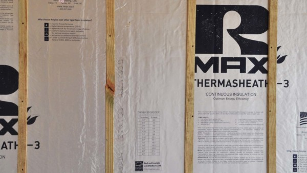 a different wall insulation product with a radiant barrier, this one from Rmax