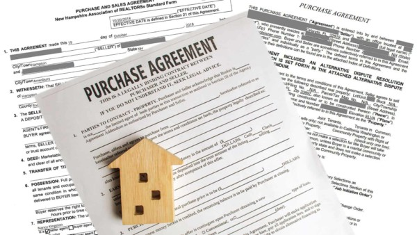the purchase agreement that must be submitted as part of a mortgage application