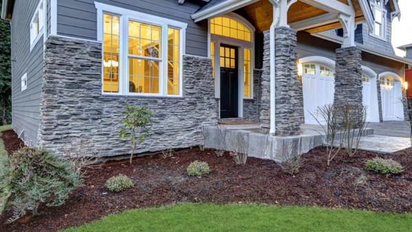foundation plantings around new home