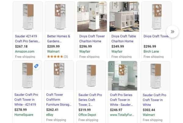 google search results for craft tower