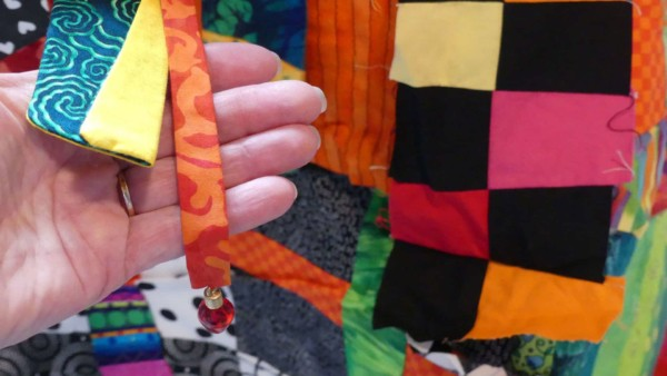 crazy art quilts can include ribbon, buttons & all sorts of Diane Hire Dongles