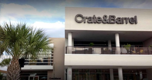 front of crate & barrel store, one of my favorite furniture companies, in tampa, florida