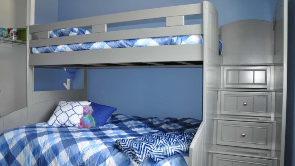 gray bunk beds from one of the better furniture companies in Orlando, Rooms To Go