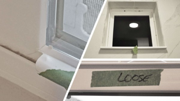 collage showing various problems with cheap house windows