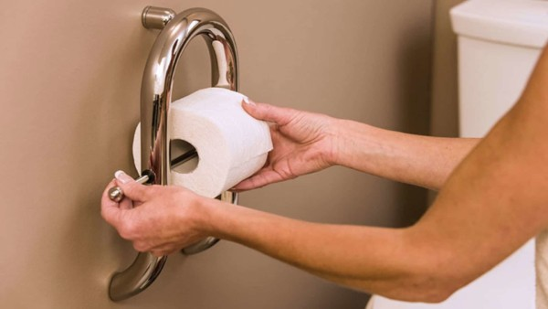 Combination toilet paper holder & grab bar in one ...