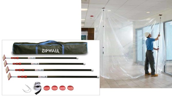 keeping your home healthy during the mold remediation process includes using this zip wall ...