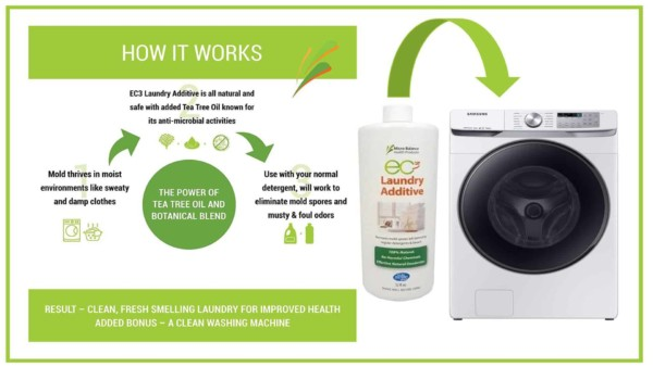 biocide mold cleaning product to use when washing porous personal belongings