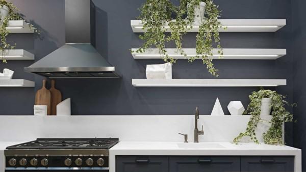 kitchen design trends include more open shelving vs closed cabinets