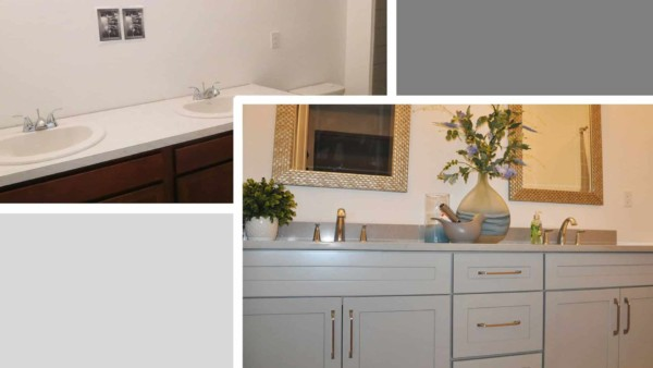 Learn how to upgrade and get more house for less money, like these cabinets with drawers