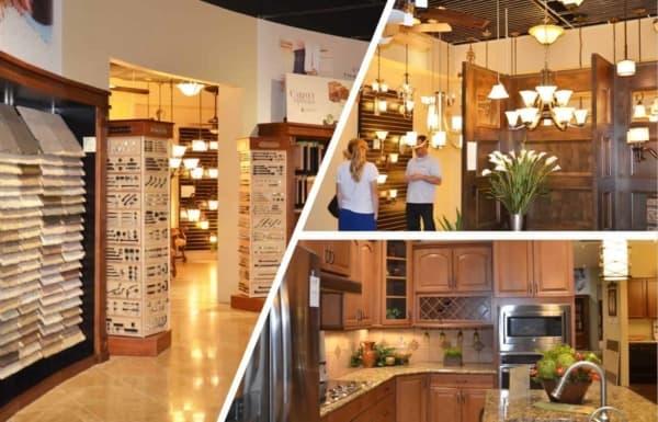 various rooms at Fulton's design center in Phoenix AZ