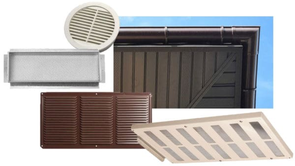 Soffit vents shown in various shapes ...